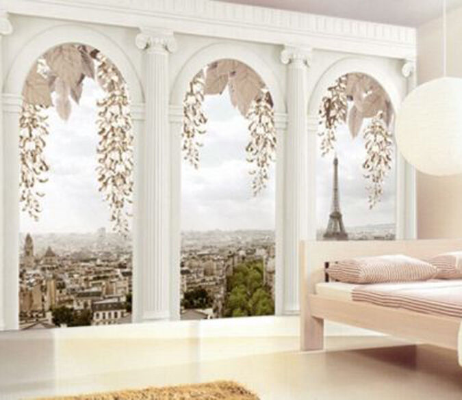 3D Building Outdoor 4354 Paper Wall Print Decal Wall Wall Mural AJ WALLPAPER GB