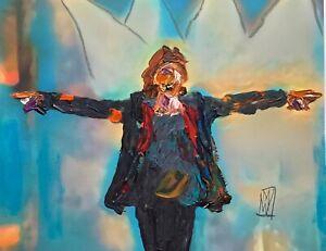 Abstract Portrait Mick Jagger Rolling Stones Portrait Art Original Painting