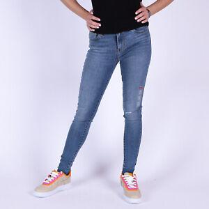 Levi-039-s-720-High-Rise-Super-Skinny-Damen-Blau-Jeans-Groesse-40-US-W32-L32