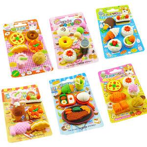 Mini-Petit-Alimentaire-Caoutchouc-Gomme-Effacer-Bureau-ecole-Cadeau-Pour-Enfants