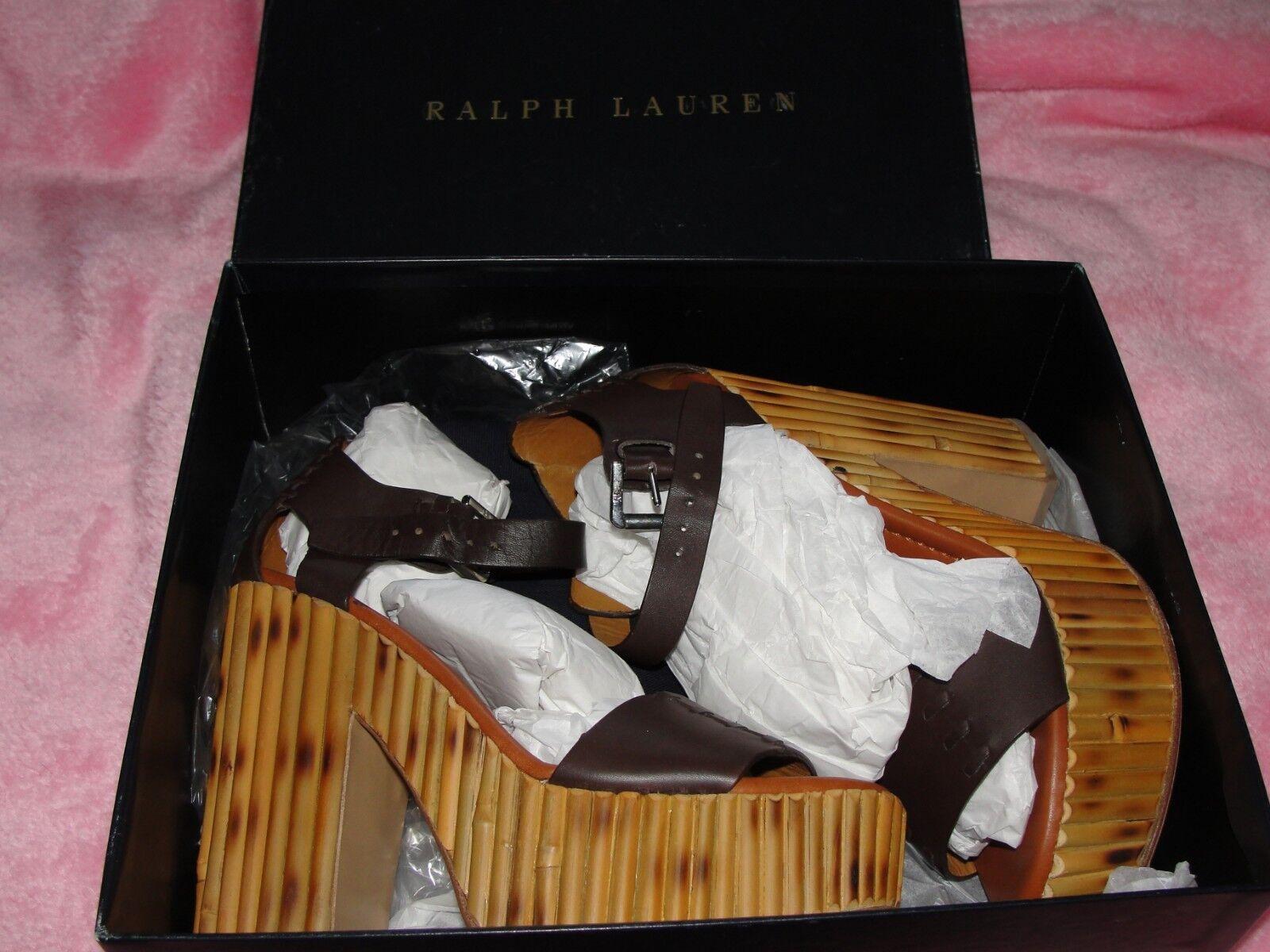 RARE Ralph Lauren Alira Bamboo Platform Sandal SIZE  US 6B - PRICE OVER 500GBP