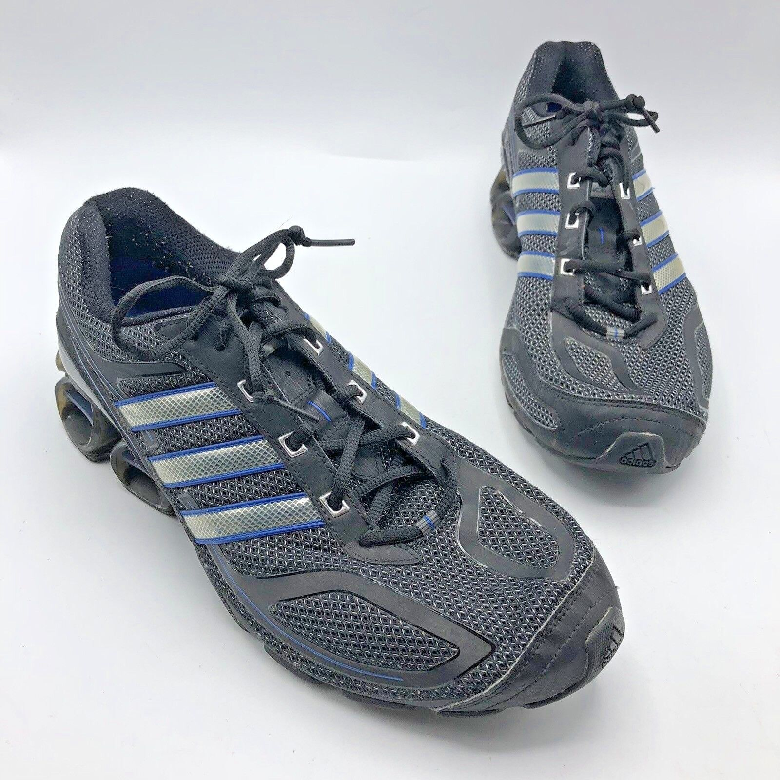 Adidas Sport Running Devotion POWERBOUNCE Men Black bluee Silver shoes Size 12