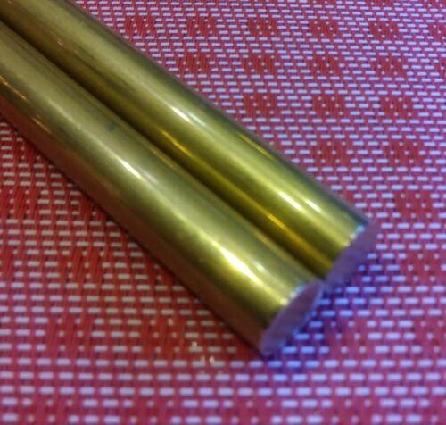 "2 pc .5 diameter X 12/"" long c360 brass rod new solid round bar stock 1//2   MT"