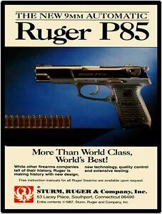 "Details about Sturm Ruger P85 9mm Pistol 9"" x 12"" Repro Aluminum Metal Sign"