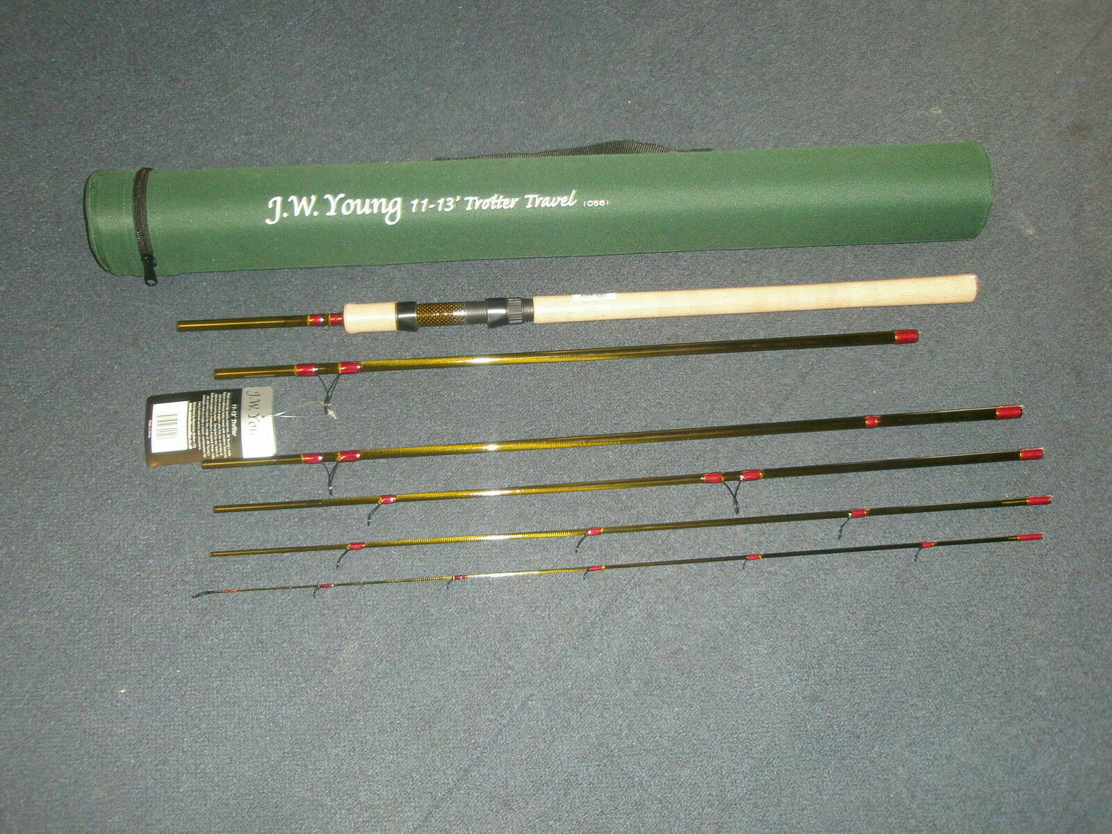 Jw Youngs Transporte Viaje Barra 5pzas (+Extensión)  11-13ft+Tubo Cordura Pesca  venta con descuento