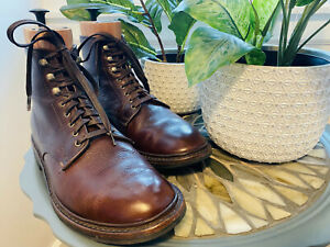 Allen-Edmonds-Higgins-Mill-boot-9-5-D-brown-tumbled-leather