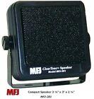 MFJ-281 Clear Tone Speaker & Mounting Bracket 8 Watts 8 Ohms 6' cord 3.5 MM Plug