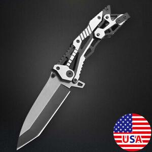 Pocket Tactical Combat Knives Spring Assist Knife Hunting Survival Folding Blade