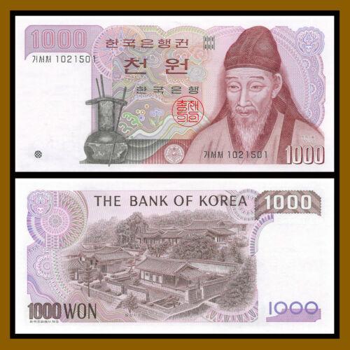 South Korea 1000 1983 P-47 Unc //LA135 Won 1,000