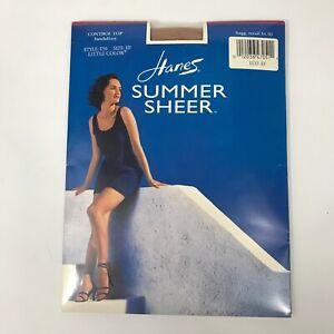 VTG Hanes Summer Sheer Pantyhose Tights Little Color Nude
