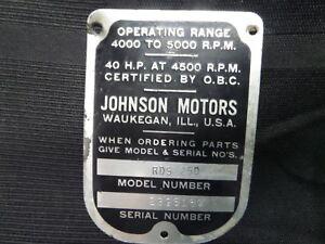 evinrude serial number model year