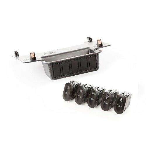 RUGGED RIDGE 17235.73 Etched Lower 5 Switch Panel Kit For 11-18 Jeep Wrangler JK