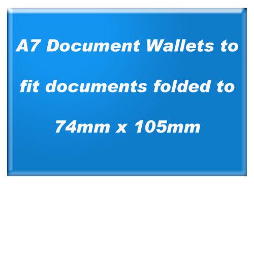 2000 x A7 Plain Clear Document Enclosed Wallets