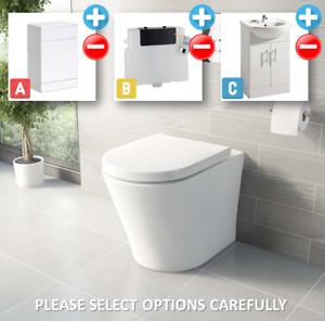 Bathroom-Bundle-500WC-Unit-Toilet-Pan-amp-Seat-Concealed-Cistern-Vanity-Unit