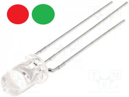 LED 5mm Bicolor Red Green Cathode Transparent DIY Model Making