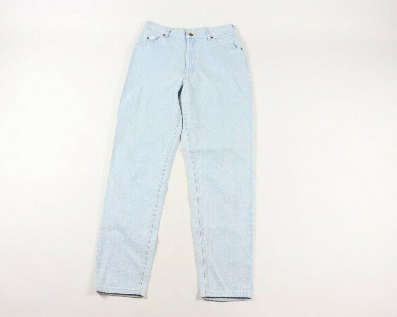Vintage 80er Lee Mr Damen Größe 14 Lang Hoher Bund Denim Jeans Blau