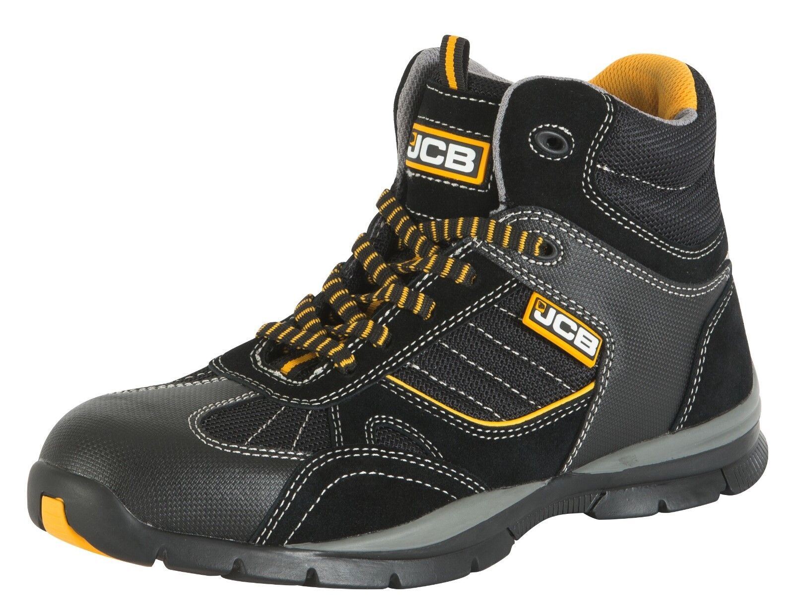 JCB Rock  Uomo Work Safety Stiefel Cap Schuhes Hiker Steel Toe Cap Stiefel Mid Sole Protection 28af1e