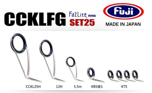 FUJI Fazlite ring CCKLFG KB5 SET Casting Rod Guides SET25