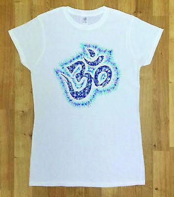 Women Yoga Symbol Tie Orange Dye Top Chakra Meditation Hobo Boho Peace Spirit Om