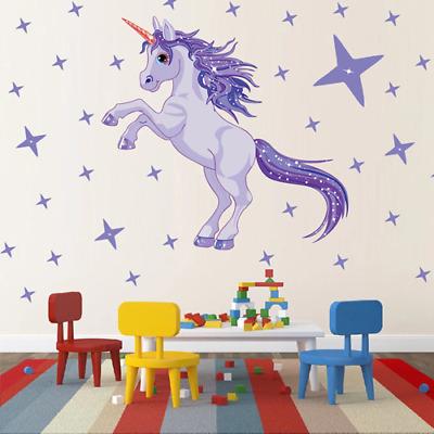 Dekoration Wandtattoo Wandsticker Wandaufkleber Einhorn Unicorn Sbb Aufkleber Kinderzimmer Mobel Wohnen Elin Pens Ac Id
