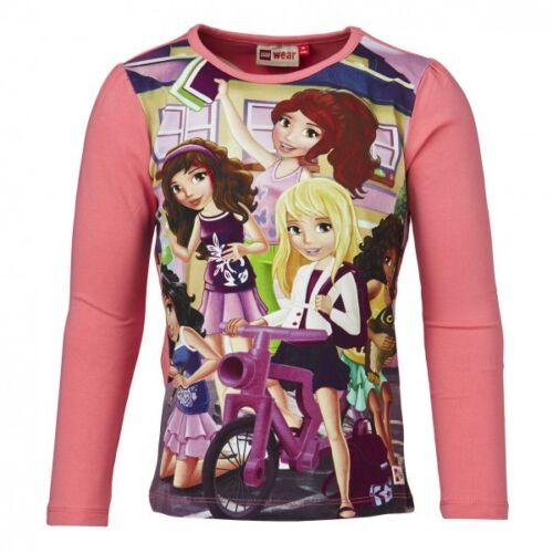 différentes tailles LEGO wear Friends shirt//chemise manches longues pour fille en rose
