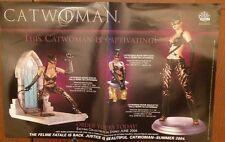 VINTAGE DC COMICS CATWOMAN STATUE MAQUETTE RARE PROMO ONLY POSTER 2004 BATMAN