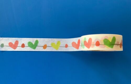 Washi tape sticky tapes- coffee cups stamps,hearts+strawberry Crafts masking