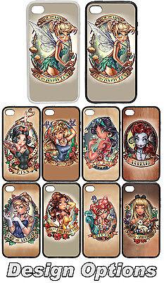 Tattoo Portrait Princess - Rubber + Plastic Phone Cover Case Disney Inspired