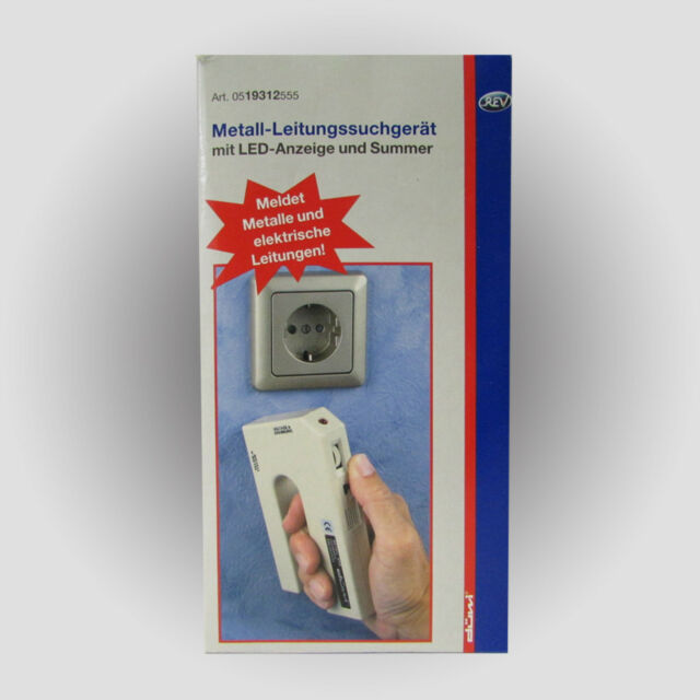 DÜWI / REV Art.19312 Metall und Leitungs-Suchgerät m. LED Anzeige Metallsucher