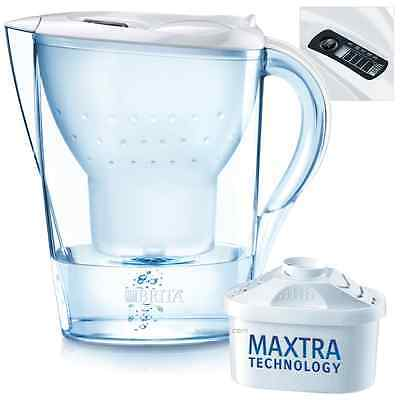 Brita Marella Cool White Home Fridge Jug with 1 Maxtra Water Filter Cartridge