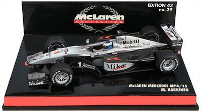 1:43 Minichamps McLaren Mercedes MP4 15 2000 Hakkinen
