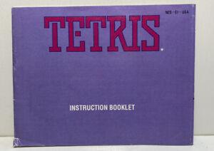 TETRIS — NES Nintendo Original Instruction Manual Booklet Only
