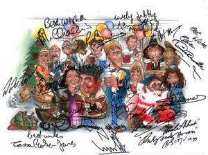 Only-Fools-and-Horses-Nags-Head-Whole-Cast-Signed-Artwork-POSTER-Pre-Print-A3