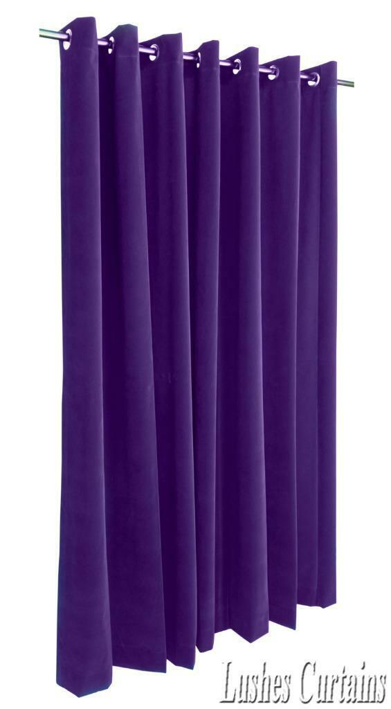 Violet 213cm H rideaux velours Panneau W/Œillet oeillets Haut de la page   Les Consommateurs D'abord