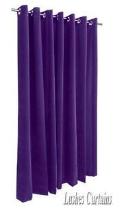Violet-213cm-H-rideaux-velours-Panneau-W-illet-oeillets-Haut-de-la-page