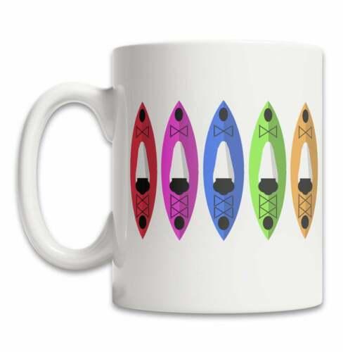 Cute Kayak Mug Fun Mug For Kayakers Colored Kayaks Mug Cute Kayak Gift Mug Fun