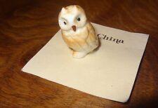 Vintage Owl Miniature Bone China Hamilton Gifts P6163 Presents Taiwan