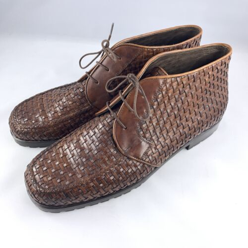 Cole Haan Woven Chukka Boots Brown - Gently Used