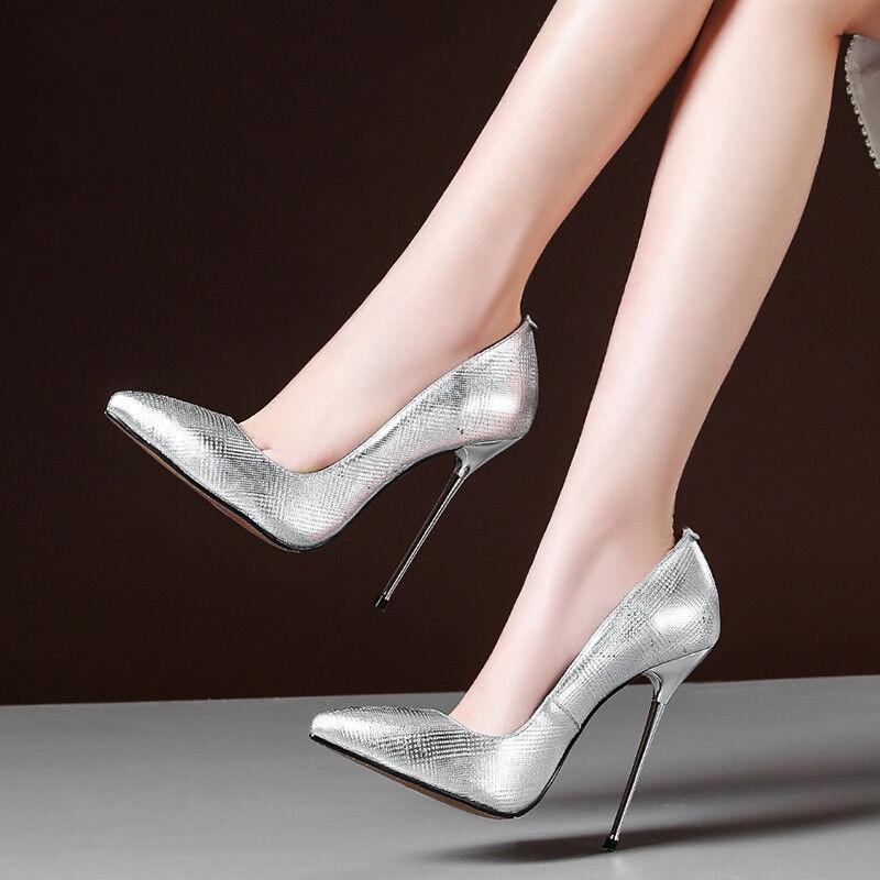 Luxus Damenschuhe Spitz Stilettos Pumps Party High heels Hochzeitschuhe Gr:32-45