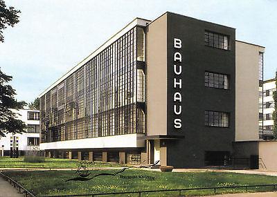 Dessau Bauhaus Kunst- Doppelkarte Walter Gropius