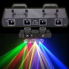 DJ Laser Light DMX 760mW RGYB 4 Lens Beam 7CH Stage Disco Party Lighting Show