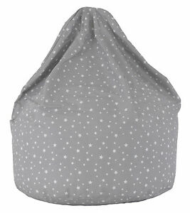 Large-Grey-Stars-Bean-Bag-With-Beans-By-Bean-Lazy