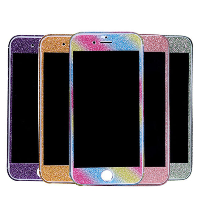 360° Full Body Decal Skin Bling Glitter Protective Sticker Film 4 iPhone 6 7 8 X