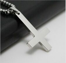 Inverted Cross of St Peter 316L Stainless Steel Lucifer Satan Pendant Necklace