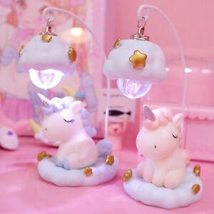 Romantic Ins Cartoon Unicorn Lamps Led Night Light Kids
