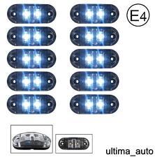 10x 24V SMD 2 LED TRANSPARENTE LATERAL TRASERO LUZ DE SEÑALIZACIÓN