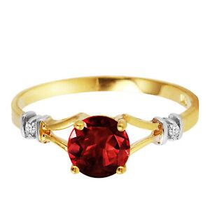1-07-CT-Natural-Garnet-Gemstone-Ring-w-Diamond-Accents-14K-Yellow-or-White-Gold