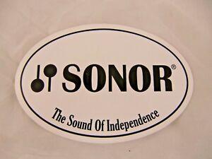 Sonor Drum Sticker Decal Case Rack Autocollant Nice Neuf Rare Sonor Drums-afficher Le Titre D'origine Belle Apparence