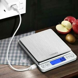 CHwares Digital Küchenwaage mit USB Aufladen,Digitalwaage