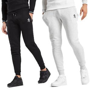 Men-039-s-Gym-King-Newton-en-coton-noir-Jogger-Pantalon-De-Jogging-Pantalon-Tapered-Fit